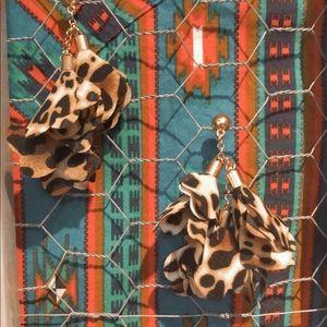 Cheetah Printed Earrings